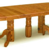 Amish Split Pedestal Dining Table Extended