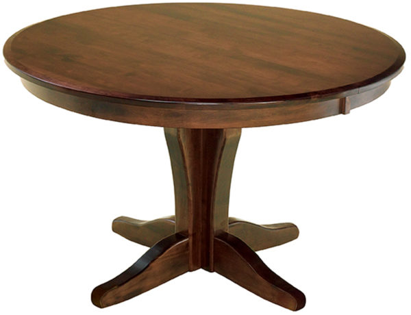 Amish Vintage Pedestal Dining Room Table