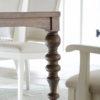 Amish Tuscany Dining Table Leg Detail
