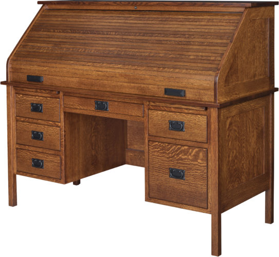 Amish Post Mission Roll Top Desk