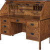 Amish Post Mission Roll Top Desk Open
