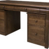 Amish Castlebury Library Desk with Mobile Pedestals