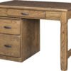 Amish Kumberlin Library Desk with Pedestal
