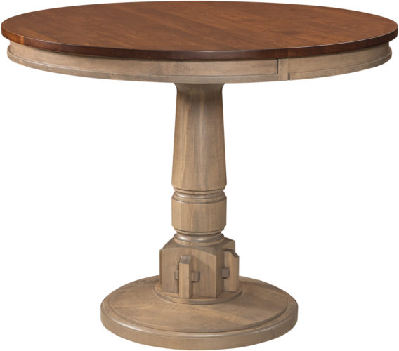 Amish Bellaire Round Pub Table