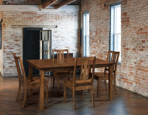 AmishEco Leg Table Dining Room Set