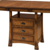 Amish Modesto Cabinet Dining Table Extended