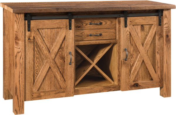 Amish Barnloft Buffet Table