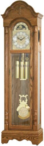 Amish Light Oak Canterbury Grandfather Clock