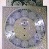Wooden Canterbury Grandfather Clock with #72878 Dial with Arabic Numberals