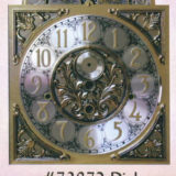 Wooden Canterbury Grandfather Clock with #73872 Dial with Arabic Numerals/Brass Dial/Silver Ring