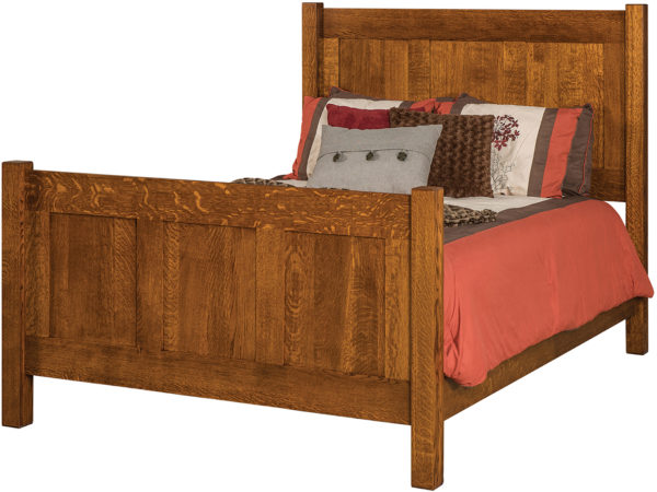 Amish Panel Shaker Bed