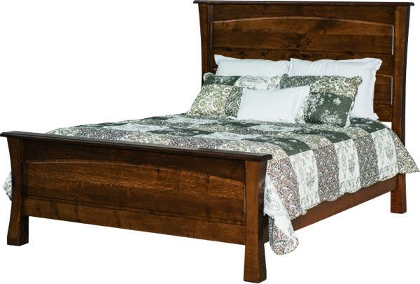 Amish Vandalia Low Footboard Bed