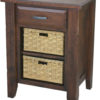 Amish Ashton Nightstand with Baskets