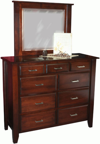Amish Ashton Nine Drawer Mule Dresser