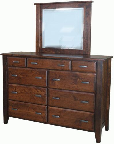 Amish Ashton Nine Drawer Wide Mule Dresser