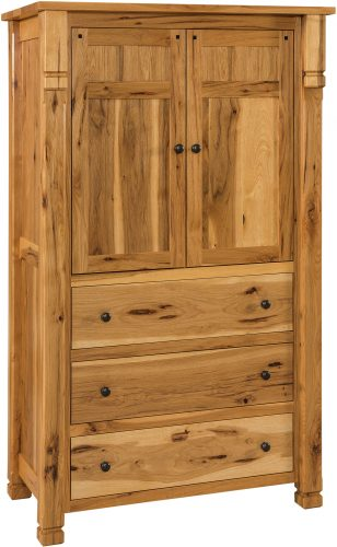 Amish Brockport Three Drawer Armoire