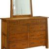 Amish Cambridge Nine Drawer Mule Dresser