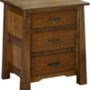 Amish 3 Drawer Cambridge Wide Nightstand
