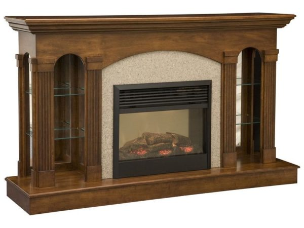 Amish Curio Fireplace