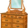 Amish Granny Mission Dresser with Mirror