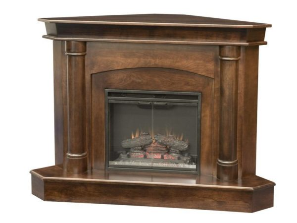 Amish Regal Corner Fireplace