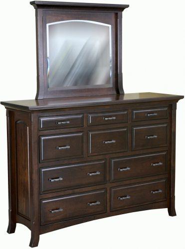 Amish Homestead Ten Drawer Mule Dresser