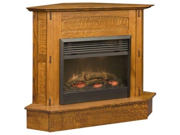 Amish Modesto Corner Fireplace