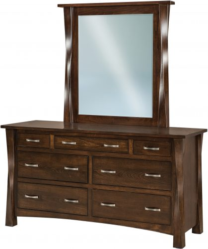 Amish Lexington Wide 7 Drawer Dresser