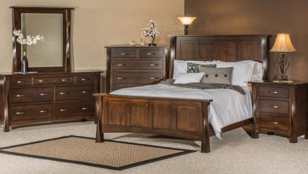 Amish Brown Maple Lexington Bedroom Setting