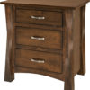Amish Lexington Large Brown Maple Nightstand