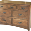 Amish Narrow Shaker 7 Drawer Dresser