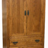 Amish Shaker 2 Drawer Armoire