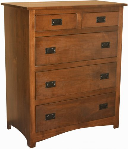 Amish Shaker Five Drawer Chest