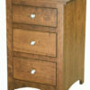 Amish Shaker Narrow Three Drawer Nightstand