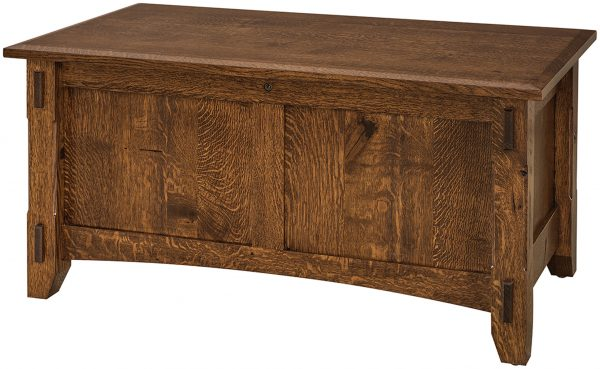 Amish Rustic 1/4 Sawn Tacoma Blanket Chest
