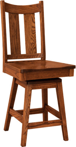Amish Aspen Swivel Bar Stool
