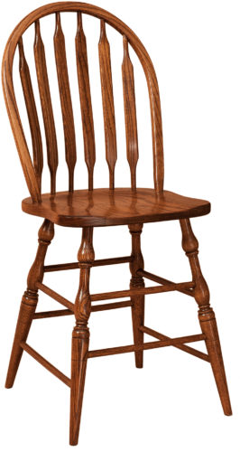 Amish Bent Paddle Bar Stool