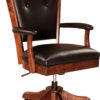 Amish Berkshire Desk Chair with Optional Fabric Arms