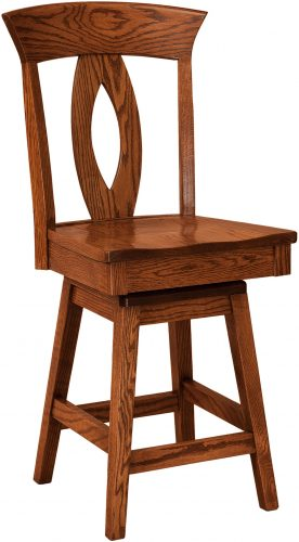 Amish Brookfield Hardwood Swivel Bar Stool