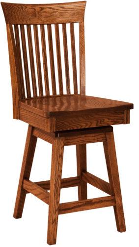Amish Carlisle Hardwood Swivel Bar Stool