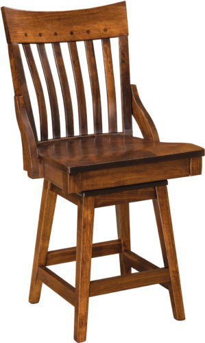Amish Fontana Hardwood Swivel Bar Stool