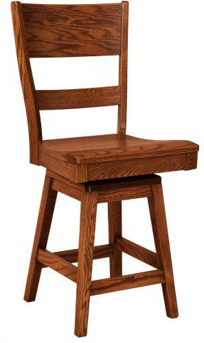 Amish Genesis Hardwood Swivel Bar Stool