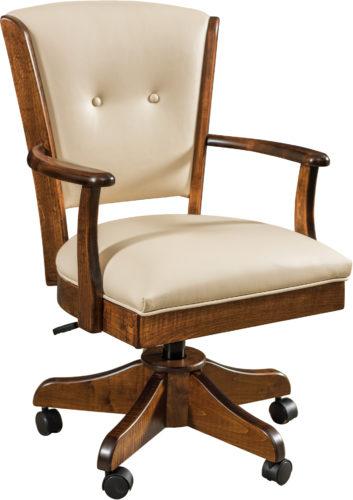 Amish Lansfield Hardwood Desk Chair