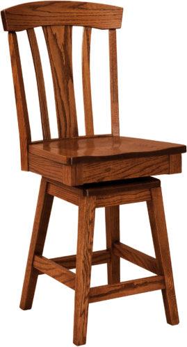 Amish Lexington Hardwood Swivel Bar Stool