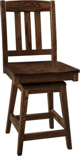 Amish Lodge Hardwood Swivel Bar Stool