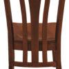 Amish Meridan Chair Back Detail