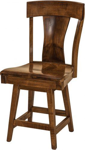 Amish Ramsey Hardwood Swivel Bar Stool