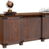 Amish Georgetown Executive Office Desk Back Detail