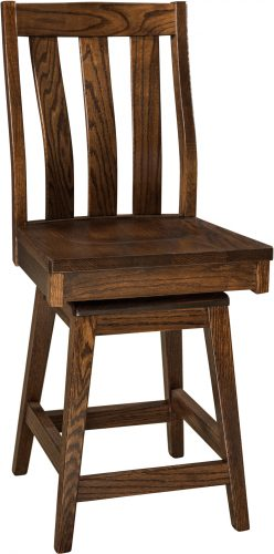 Amish Salem Hardwood Swivel Bar Stool
