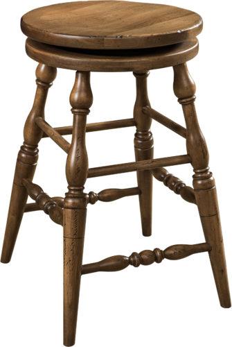 Amish Scoop Seat Swivel Bar Stool